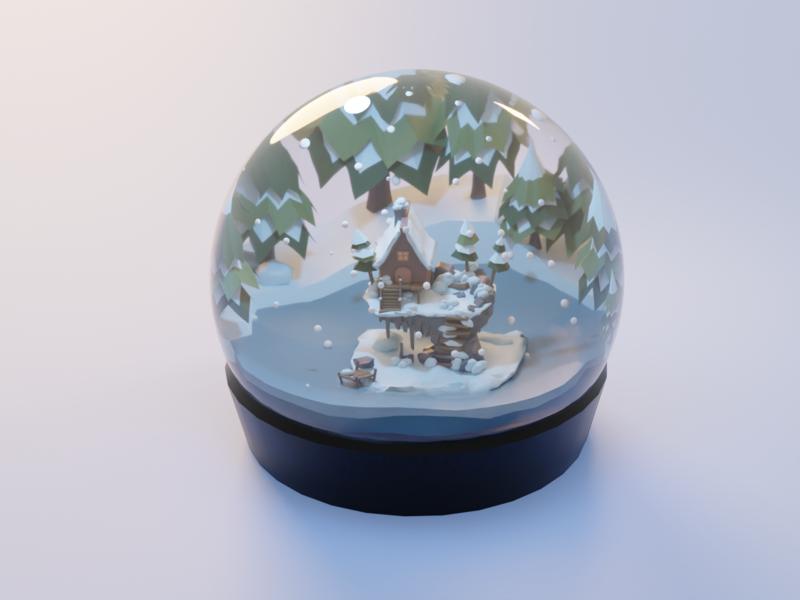 Snow Globe snow globe cinema4d illustration blender 3d