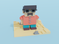 Tourist voxelart voxel cinema4d blender3d isometry illustration blender 3d