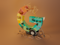 G - Google google lowpoly blender3d isometry illustration blender 3d