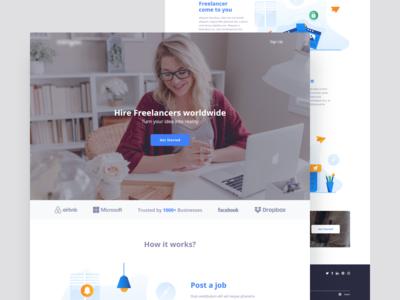 Freelancer homepage