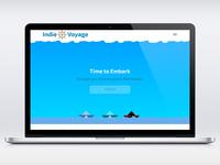 Indie Voyage Website Mockup