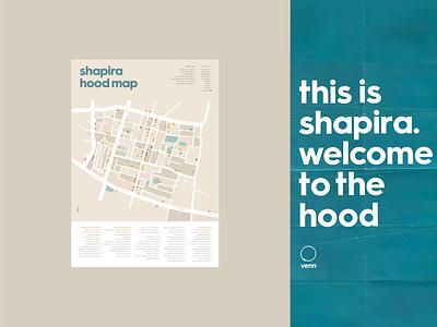 Neighborhood Map city map community neighborhood branding map typography poster