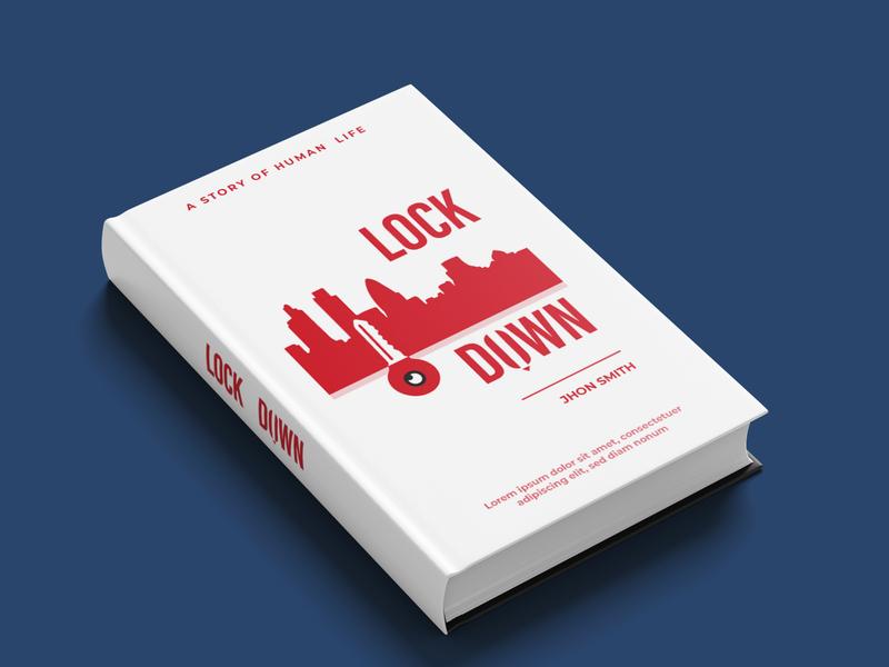 minimal book cover design(lock down) horror book cover amazon book cover creat speace photoshop illustrator illustration kindle book cover design covid-19 love story book book cover