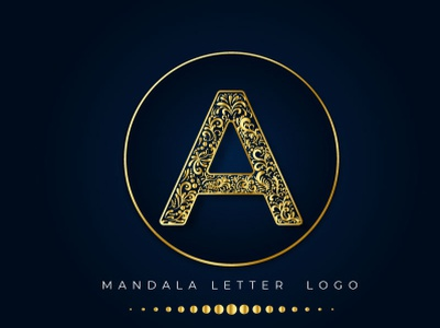 letter logo logo design brand illustration brand identity brand logotype arabic indian ornaments letter logo mandala logo