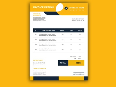 modern invoice design brand identity bill office brand design corporate branding
