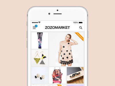 ZOZOMARKET App fashion simple ios app