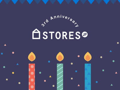 3rd Anniversary STORES.jp candle anniversary storesjp