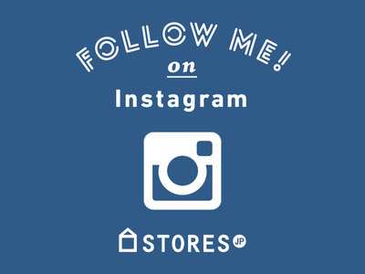 FOLLOW ME on Instagram / STORES.jp visual typography sns instagram storesjp