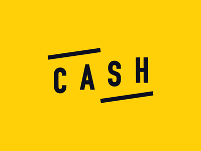 CASH Logo simple yellow logo app ios cash