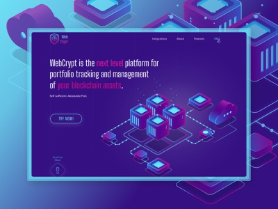 Platform for management  of you blockchain assets blockchain logo crypto currency crypto exchange crypto wallet crypto blockchain website blockchain cryptocurrency blockchain technology blockchain game landing page branding web flat ux ui minimal illustration typography design
