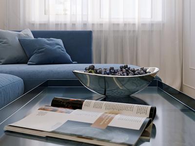Interior of one-room apartment cgart cgi interiors interior 3dsmax 3d interior design corona renderer corona render 3ds max