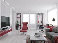 The interior of the Studio apartments