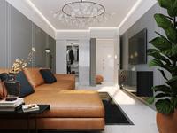 Interior of one-room apartment