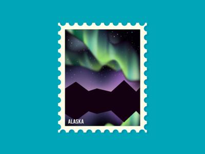 Postage stamp - Alaska