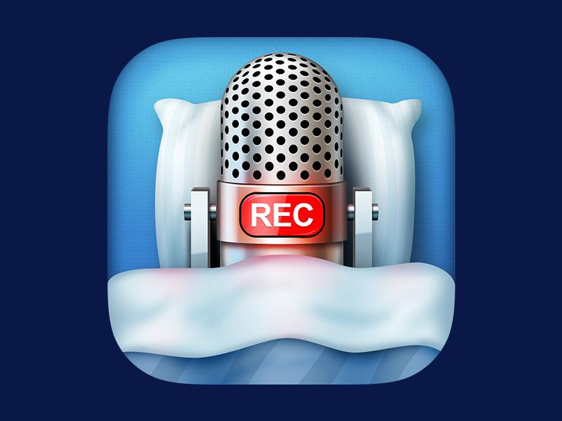 Sleep Recorder design icon app recorder sleep