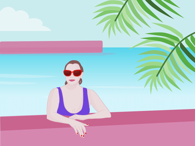 Poolside Illustration
