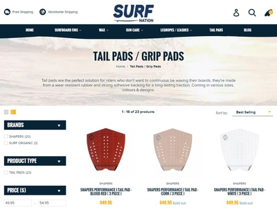 Surf Nation Collection Page