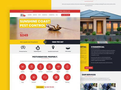 Sunshine Coast Pest Control Website