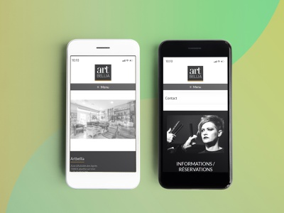 Art Bella ux homepage mobile graphic design art