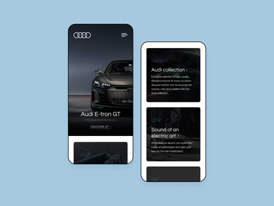 Audi International - Redesign Concept mobile app design mobile app web design car design concept website concept redesign audi user experience user interface ux uiux ui mobile ui website mobile web mobile design mobile web