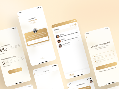 Reach - Connect to your favorite Content Creators chat application mobile app design typography website web ux design user interface user experience uxui ui ux app ios app app design product design product mobile app mobile design mobile