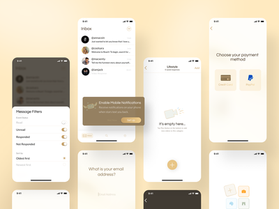 Reach - Connect to your favorite Content Creators minimal modern luxury gold royal luxury design userinterface user experience ui uxui ux product product design mobile application mobile app design application pwa mobile app mobile design mobile