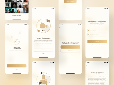 Reach — Where Stars meet their Fans modern rich royal luxury minimal pwa web ux design mobile ux uiux ux ui product design product mobile application mobile design mobile app design mobile app mobile mobile ui