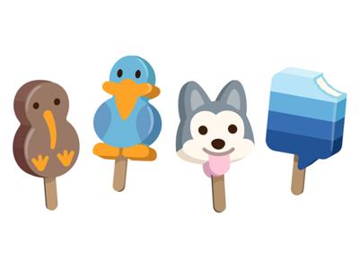Pops animals food illustration