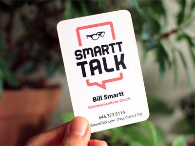 SmarttTalk Business Card logo identity