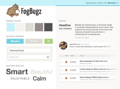 FogBugz Style Tile #1 branding typography palette visual design