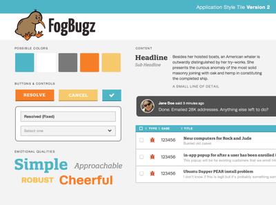 FogBugz Style Tile #2 palette typography branding visual design