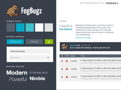 FogBugz Style Tile #3 typography palette branding visual design