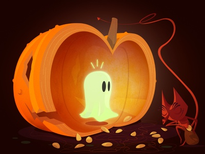 pumpkin  seeds illustration
