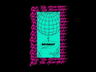 Be The Movement mvmnt apple pencil vectorart youth type vector logodesign illustration hand drawn brand graphicdesign designer branding design adobe illustrator typography logo graphic design illustrator adobeillustrator
