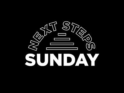 Next Steps Sunday app icon ux ui black and white adobeillustrator vectorart vector type logodesign brand graphicdesign designer branding design adobe illustrator typography logo graphic design illustrator
