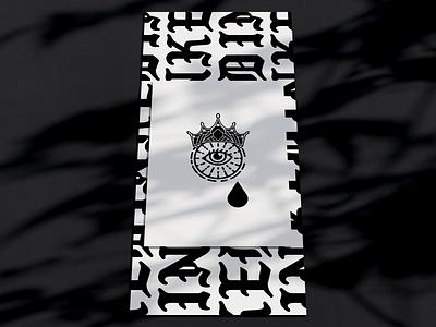 Inked Ministry Teaser procreate illustration adobe illustrator illustrator gothic crown typography eyeball eye ministry tattoo inked