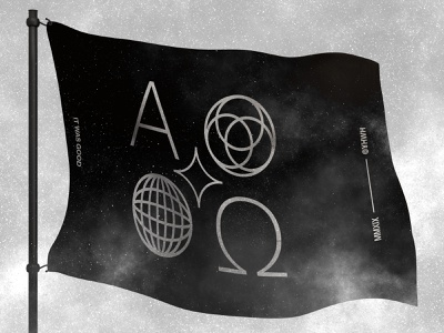 A Flag of Origin black and white graphic design logodesign logo mockup icon iconography typography brand vector graphicdesign branding adobe photoshop adobe illustrator bible creation origin