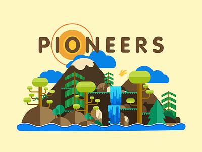 Pioneers Vector Illustration clean nature vectorart vector illustration icon design branding brand graphicdesign logo typography illustrator graphic design