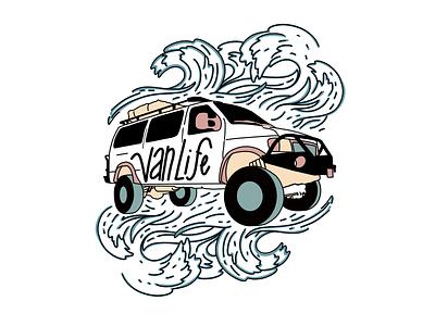 VanLife hand drawn type hand drawn procreate illustration brand graphicdesign typography graphic design illustration art illustrator illustraion logo design logo