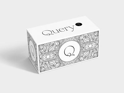 Query? Branding Box line art logo lines linework artdeco lineart black and white logodesign branding brand graphicdesign adobe illustrator logo typography illustrator graphic design