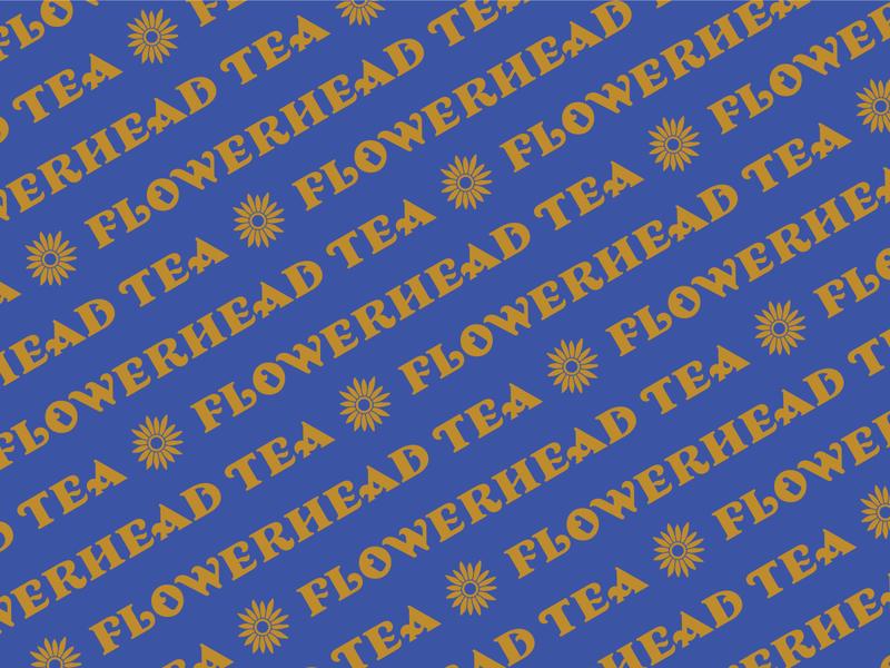 Flowerhead Tea flower toro pinto natural tea mexico logotype flowerhead tea floral california branding design illustration branding brand identity