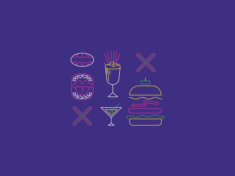 GUZZLERS milkshake burger icon iconography design restaurant vector illustration branding design toro pinto branding brand identity