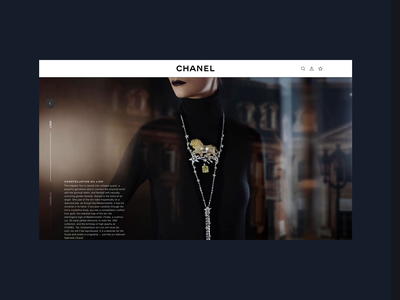 Chanel Hautre Joaillerie - Navigating Sections art direction design digital user experience navigation menu navigation e-commerce jewelry fashion brand fashion illustrations transitions animation ux design ui design ui