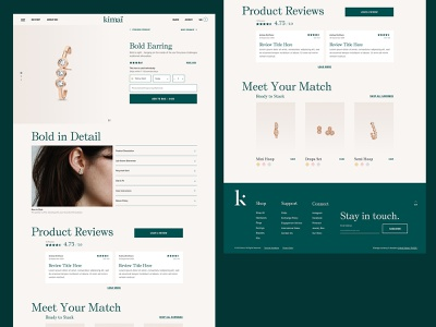 Kimaï - Product Detail Page jewelry website design website designer digital designer digital design digital design e-commerce ecommerce products product pdp