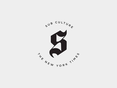SubCulture by The New York Times - Branding Concept logodesign logo branding identity design branding identity branding and identity identity branding idenity branding concept branding design branding