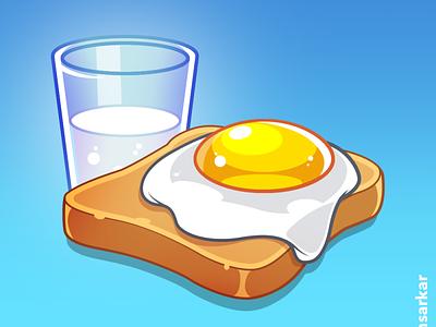 Breakfast procreate illustrator adobe