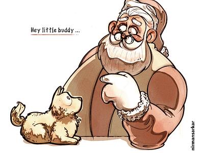 Santa procreate photoshop christmas clause santa