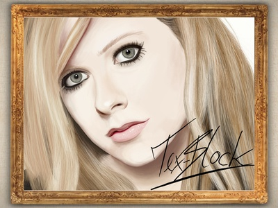 Avril Lavigne Painting with Photoshop