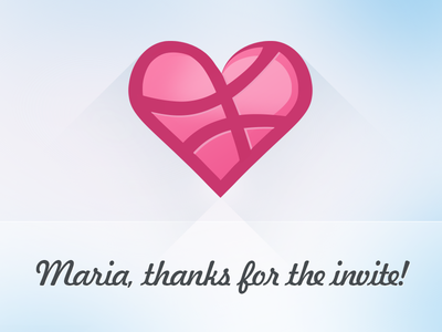 Hello there! debut heart dribbble thanks first shot