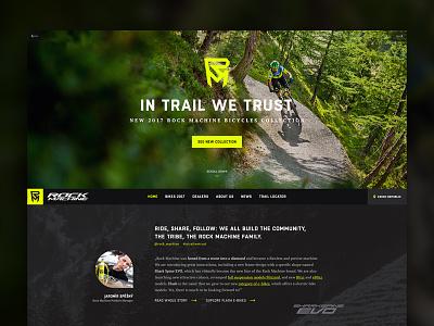 Rock Machine – Collection 2017 web design rock machine bike dark website